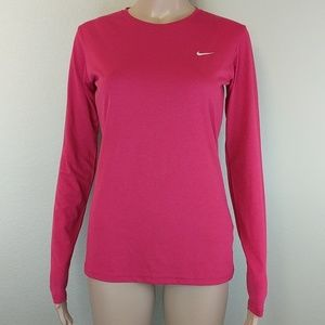 [Nike] NWOT Fit Dry Red Long Sleeve Shirt